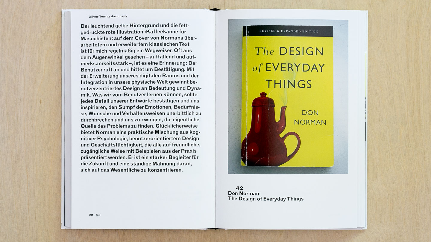 Spread featuring The Design of Everyday Things by Don Norman
