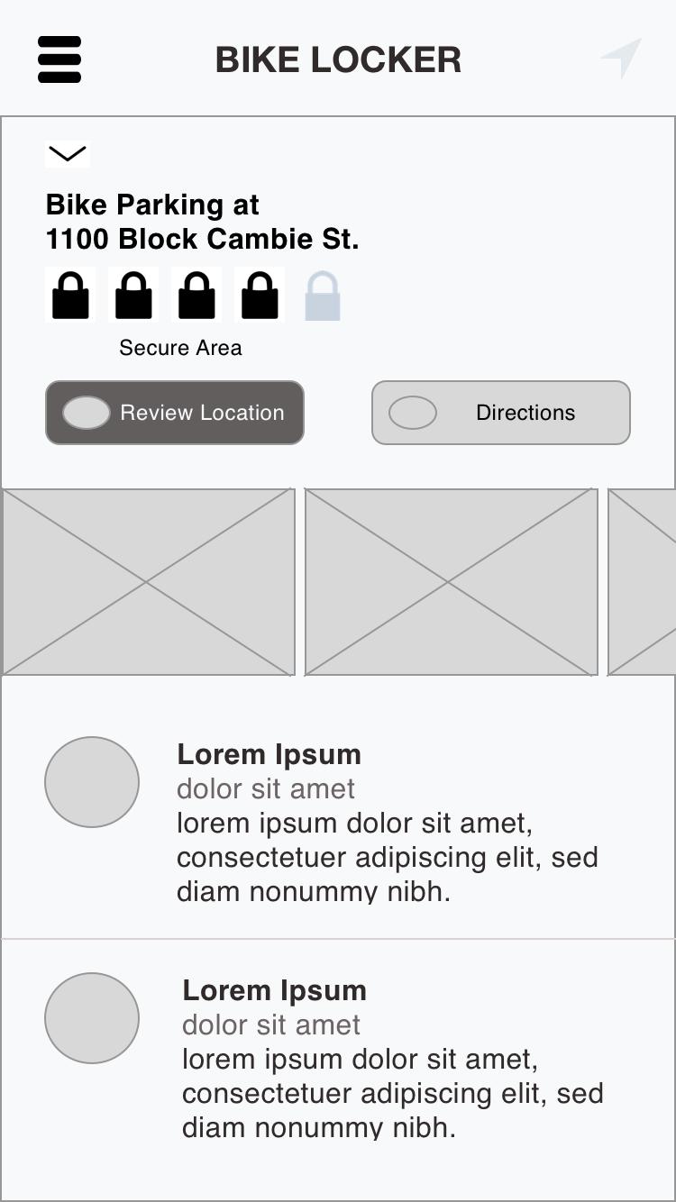 UX Design medium-fidelity prototype