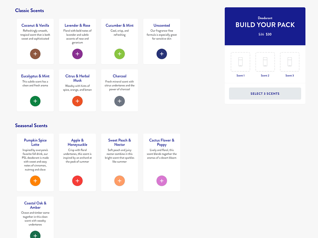 UX research custom selection example