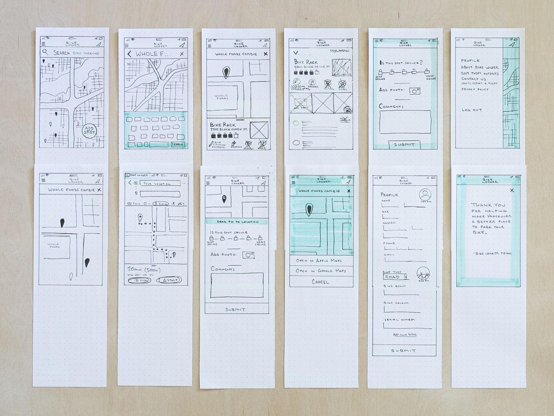UX low-fidelity paper prototype
